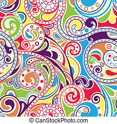 Illustration of seamless retro funky pattern, easy to repeat.