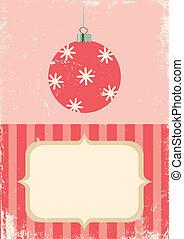 Retro illustration of Christmas bal