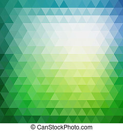 Retro mosaic pattern of geometric texture from triangle shapes, abstract vector background illustration