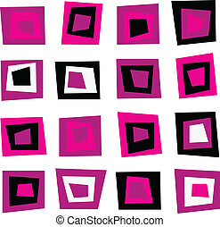 Retro seamless background or pattern with pink squares