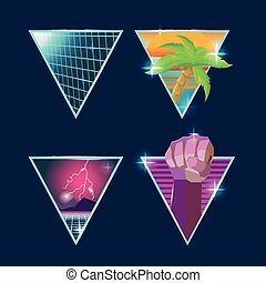 Retro Symbol Logo Graphic Style Vector