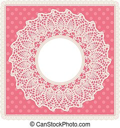 Round lace doily background