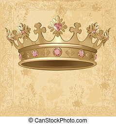 Beautiful Royal crown background