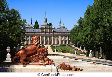 The Royal Palace of La Granja de San Ildefonso is an 18th century palace in Segovia province, near Madrid (Spain), formerly the summer residence of the Kings of Spain since the reign of Felipe V. The palace is surrounded by extensive french style gardens and sculptural fountains.