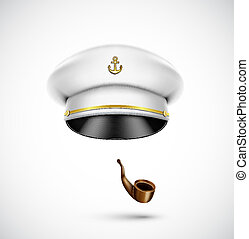 Sailor accessories (hat and pipe), eps 10