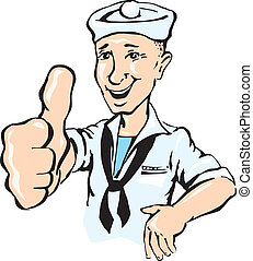 Sailor show thumb up