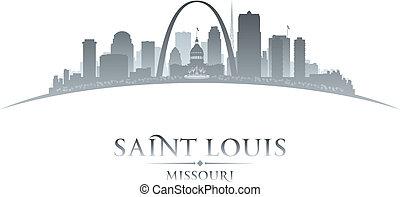 Saint Louis Missouri city skyline silhouette. Vector illustration