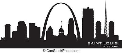 Saint Louis Missouri skyline Detailed vector silhouette