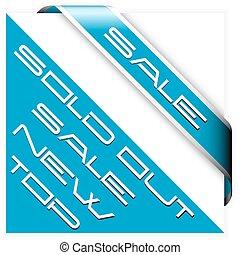 Sale blue corner ribbon