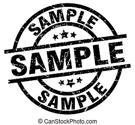 sample round grunge black stamp