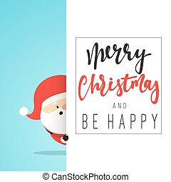 Santa Claus Cartoon character for Christmas cards and banners