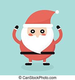 Santa Claus. Flat style design