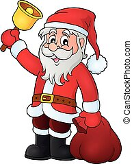 Santa Claus with bell theme image 1