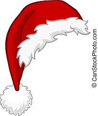 Santa Hat Christmas Cartoon Design Element