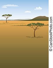 Savanna landscape background