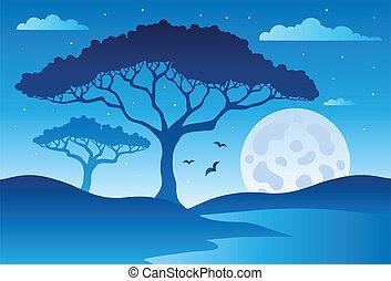 Savannah scenery with trees 2