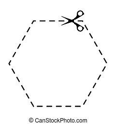 scissors cut school supply icon