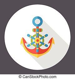 sea anchor flat icon