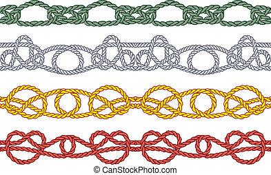 Sea knot decoration seamless patter