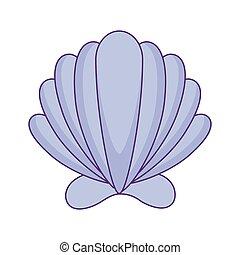 sea shell isolated icon
