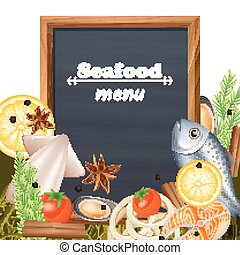 Seafood Menu Template