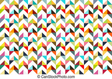 Seamles colorful triangle child styled pattern