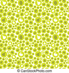 Vector illustration of a seamles pattern with fruits