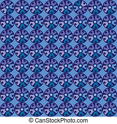 Seamless Blue Pattern with circles