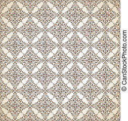 Seamless brown ornamental wallpaper
