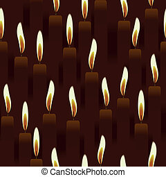 seamless burning candle, church abstract ornament background