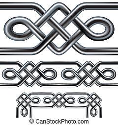 Seamless celtic rope border