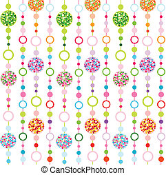 seamless colorful pattern with little circulars