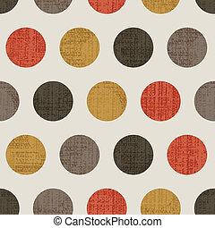 Seamless Colorful Textured Polka