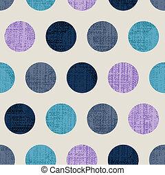 Seamless Colorful Textured Polka Do