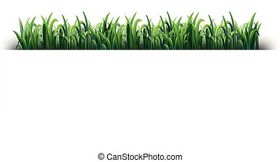 Seamless design with green grass illustration
