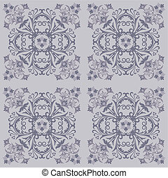 Seamless floral tile pattern