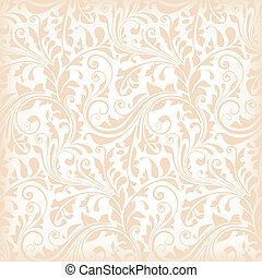 Repeating texture with floral elements for wallpaper, wrapping paper, decoration or underlying background.