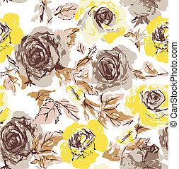 seamless flower rose wallpaper