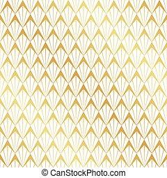 Seamless gold Art Deco pattern