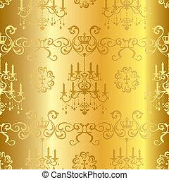 Seamless gold design pattern