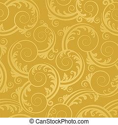 Seamless golden swirls wallpaper