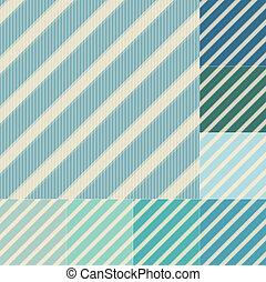 seamless green blue diagonal stripes pattern