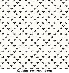 Seamless hearts pattern textured
