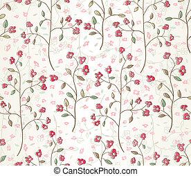 Floral seamless pattern. EPS 10 vector illustration