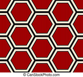 seamless modern hexagonal pattern