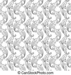 seamless monochrome pattern damask