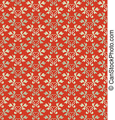 seamless ornamental wallpaper