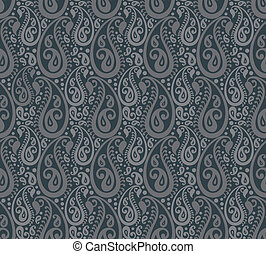 Seamless paisley vector background