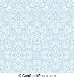 seamless pattern from white abstract elements on blue background