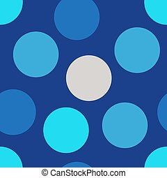 Seamless pattern with blue circles for printing on fabric, textile. Print for wrapping paper, cover, bed linen. Vector illustration.